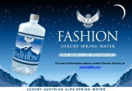 Values Explanation FASHION Luxury Spring Water - FashionTV ...