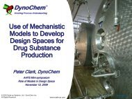 Use of Mechanistic Models to Develop Design Spaces for Drug ...
