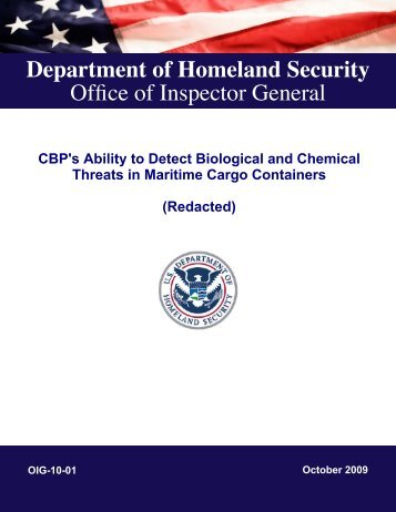 CBP's Ability to Detect Biological and Chemical Threats in Maritime ...