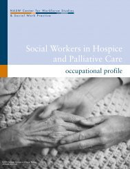 Social Workers in Hospice and Palliative Care - Center for ...