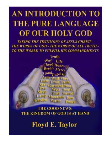Introduction to the Pure Language of Our Holy God