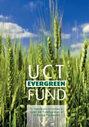 UCT Evergreen Fund - Research Contracts & IP Services