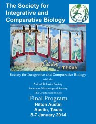 Final Program - Society for Integrative and Comparative Biology