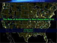 The Role of Architecture in Next Generation Grid - Consortium for ...