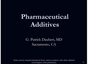Pharmaceutical Additives