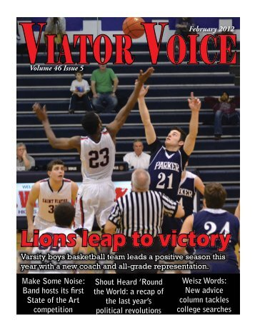 February 2012 Cover.indd  - Saint Viator High School