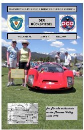 Volume 36 Issue 7, July 2009 - Maumee Valley - Porsche Club of ...