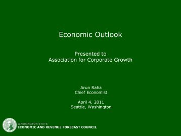 View full presentation - Association for Corporate Growth