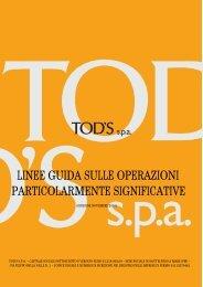 linee guida sulle operazioni particolarmente significative - Tod's