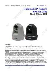 Handbuch Ip-Kamera APEXIS J802 Stand: Oktober 2012