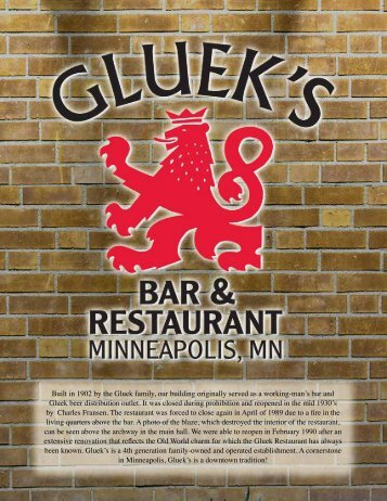 Download a PDF - Gluek's