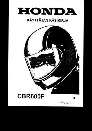 CBR600F 1999-2000 käsikirja (.pdf, 2.27 MB) - Honda