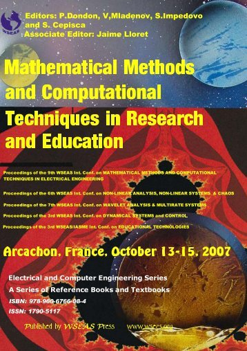 Mathematical Methods and Computational Techniques in ... - WSEAS