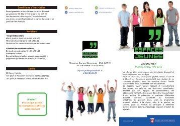 Programme des Espaces Jeunes mars - mai 2013 (pdf - 275,39 ko)