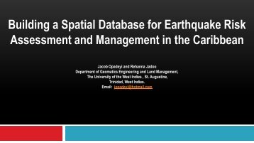 Jacob Opadeyi - The University of the West Indies Seismic Research ...