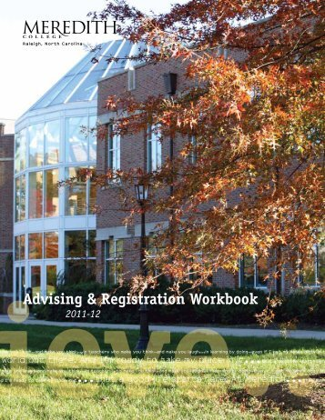 Advising & Registration Workbook - Meredith College