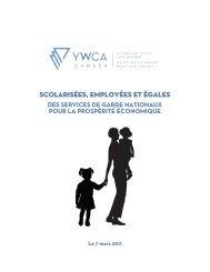 Scolarisées, employées et égales - YWCA Canada
