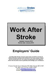 Work After Stroke – Employer's guide - Different Strokes