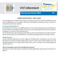 Patienteninformation 10 - MRSA - Visit