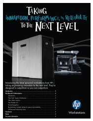 7) Taking Innovation, Performance and Reliability to the Next ... - HP