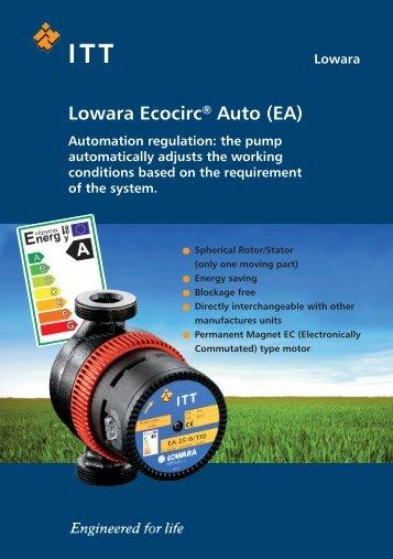 Lowara Ecocirc® Auto - Xylem - Applied Water Systems