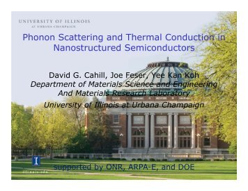 Phonon Scattering and Thermal Conduction in Nanostructured ...
