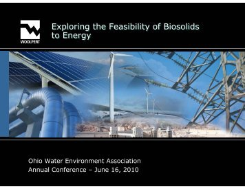 Exploring the Feasibility of Biosolids to Energy - Ohio Water ...