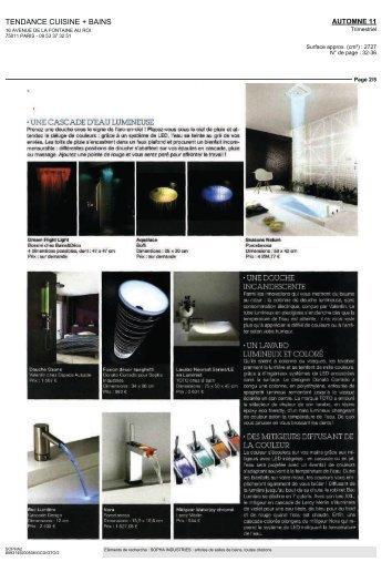 tendance cuisine + bains • une cascade d'eau lumineuse ... - Wet