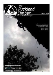 Auckland Climber - New Zealand Alpine Club