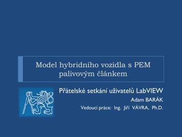 Model hybridního vozidla s PEM palivovým článkem