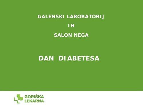 ÄŒAJ PRI DIABETESU - Salon NEGA