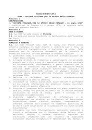 Statuto modificativo - Sisc