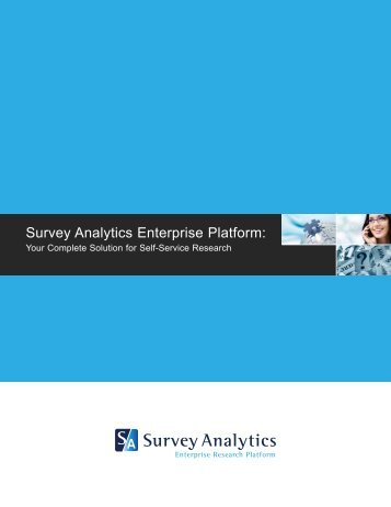 Product Brochure - Survey Analytics