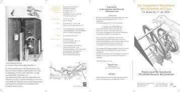 Leporello zur Ausstellung - Salomon de Caus
