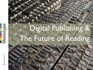 Digital Publishing & The Future of Reading - List