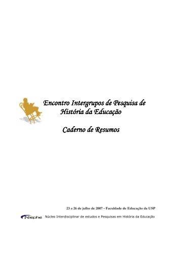 Caderno de Resumos - USP