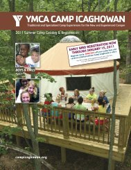 yMCa CaMP iCaghowan - YMCAs