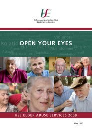 Open Your Eyes: HSE Elder Abuse Services 2009 - CARDI