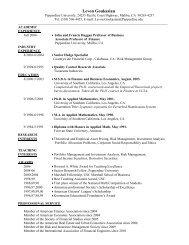 Levon Goukasian - Meet the Faculty - Pepperdine University
