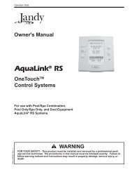 Jandy AquaLink One Touch - Home - Swimming Pool Parts Filters ...
