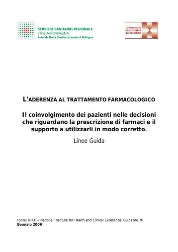 Linee guida sull'aderenza ai trattamenti farmacologici