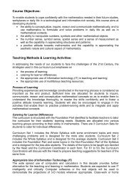 Course Objectives: Teaching Methods & Learning Activities: