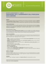 management per il coordinamento delle professioni ... - eCampus