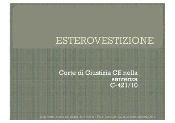 Page 1 Page 2 Ricordiamo cosa vuol dire esterovestizione in Italia ...