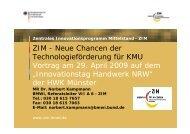 ZIM - Neue Chancen der Technologieförderung für KMU Vortrag am ...