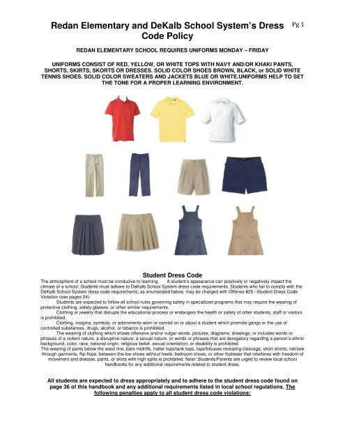 Redan Elementary and DeKalb School System's Dress Code Policy