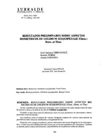 Resultados preliminares sobre aspectos biometricos de ... - ingeba