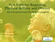 Physical Activity and Obesity Ideas for ... - San Juan College