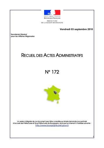 RAA 172 - Préfecture de la Côte-d'Or
