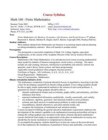 finite math exam Learn finite math with free interactive flashcards choose from 319 different sets of finite math flashcards on quizlet.